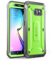 Galaxy S6 Edge Supcase Unicorn Beetle Pro Rugged Holster Case Green/Gray