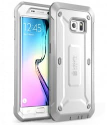 Galaxy S6 Edge Supcase Unicorn Beetle Pro Rugged Holster Case White/Gray