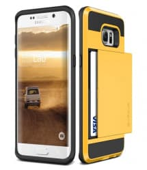 Verus Damda Hard Credit Card ID Holder Case For Galaxy S6 Edge Plus Yellow