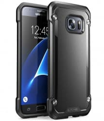 Galaxy S7 Unicorn Beetle Hybrid Protective Bumper Case - Black
