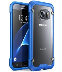 Galaxy S7 Unicorn Beetle Hybrid Protective Bumper Case - Blue