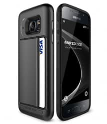 VRS Design Damda Hard Credit Card ID Holder Case For Galaxy S7 Dark Steel
