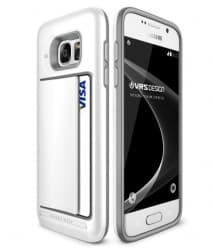 VRS Design Damda Hard Credit Card ID Holder Case For Galaxy S7 White
