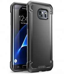Galaxy S7 Edge Unicorn Beetle Hybrid Protective Bumper Case - Black