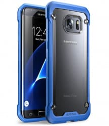 Galaxy S7 Edge Unicorn Beetle Hybrid Protective Bumper Case - Blue