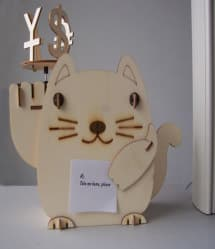 DIY Solar Kits Plywood Solar Fortune Cat
