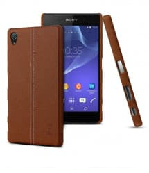 Imak Leather Back Case for Xperia Z5