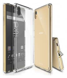 Clear TPU Tough Case for Xperia Z5 with Port Covers
