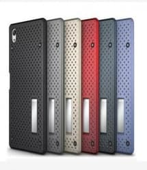 Perforated Slim Armor Case for Xperia Z5 with Stand