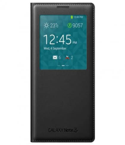 Original Samsung Galaxy Note 3 S-View Cover Black White Pink Orange Yellow Plum Blue Lime Indigo Mocha