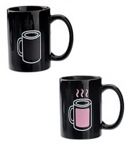 Coffee Mug Temperature Changing Pink Hot Cold Mug