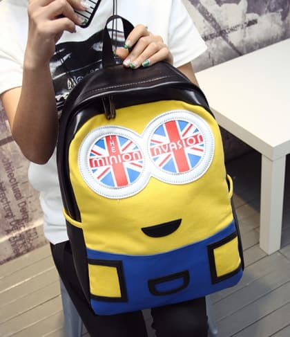 Minion Invasion Leather Feel Backpack 16 Inch