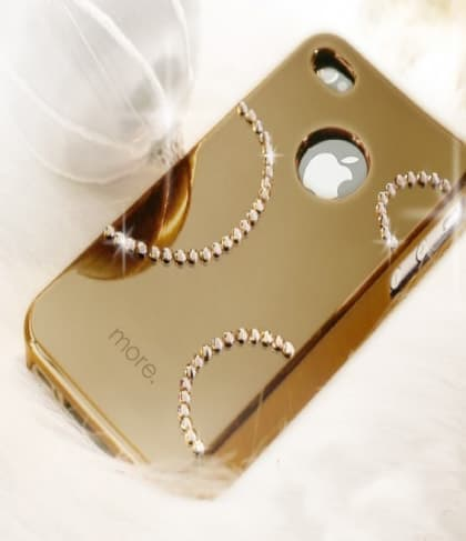 More Noël Noel Collection (Lumina Series) for iPhone 4 4S AP13-032 (Cosmo/Dark Gold)