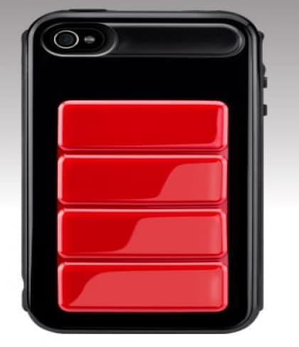 SwitchEasy Odyssey Black / Red UltraFrame Hardshell iPhone 4 Case