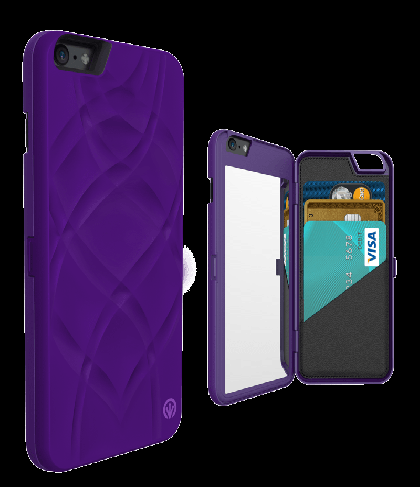 iFrogz Charisma Wallet Mirror Case for iPhone 6 Plus Purple