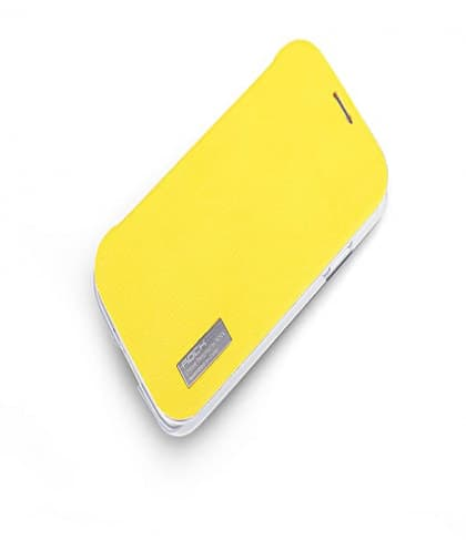Rock Elegant Slide Flip Lemon Yellow Case for Galaxy S4