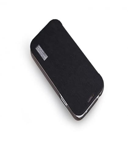 Rock Elegant Slide Flip Black Case for Galaxy S4