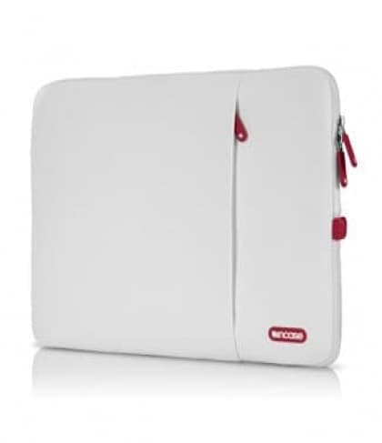 """Incase 13"""" White Cranberry Protective Sleeve Deluxe for MacBook Pro Air"""