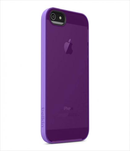 Belkin Grip Candy Sheer for iPhone 5 5s Volta Purple Lightning
