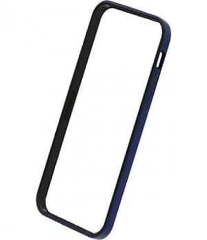 Power Support Metallic Blue Flat Bumper Set for iPhone 5