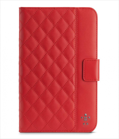 Belkin Quilted Cover with Stand for iPad Mini and iPad Mini with Retina Ruby