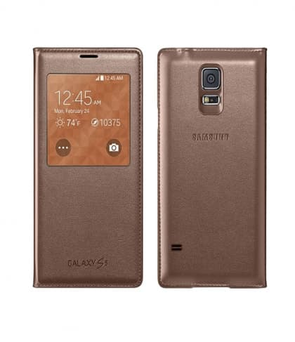 S-View Premium Cover Case for Samsung Galaxy S5 Rose Gold