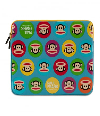 "Paul Frank Uncommon Neoprene Sleeve for Macbook Pro 13"" Blue Multi Julius"