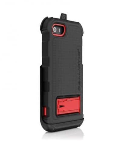 Ballistic iPhone 5 5s Hard Core Series Case Black Red