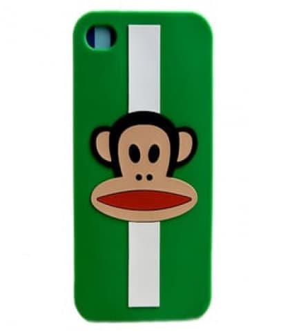 Paul Frank Julius Green Stripe Case for iPhone 4