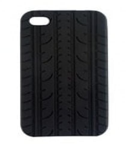 VROOM iPhone 4 Black Tire Tread Silicone Case