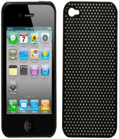 iPhone 4 Perforated Black Soft Touch Snap Case Generic InCase Griffin Flexgrip