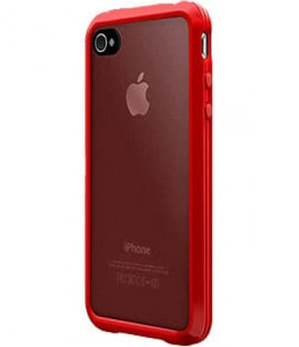 SwitchEasy Trim Hybrid Red Case for Apple iPhone 4