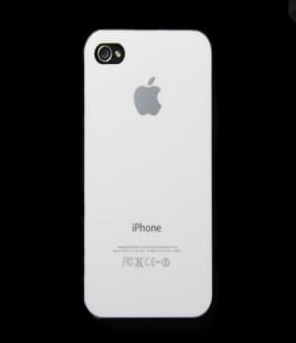 iPhone 4 4S Luminosity Series Hard Plastic Cover Apple Logo Case White