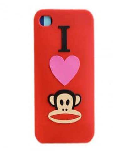 Paul Frank I Heart Julius Red Silicone Case for iPhone 4