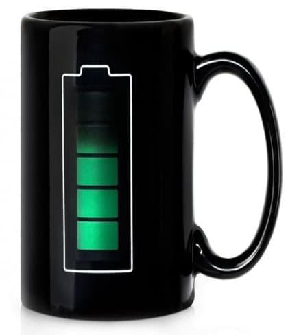 Battery Meter Temperature Mug