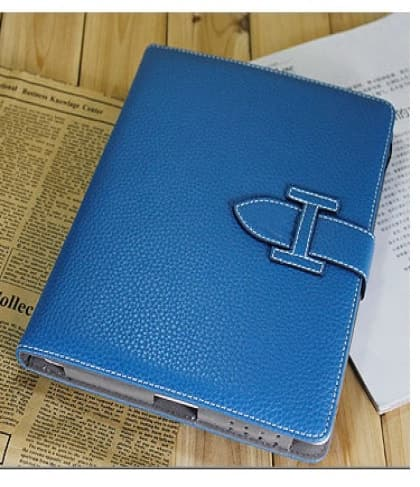 High Fashion Designer Inspiried H Leather Smart Cover Case iPad 2 iPad 3 - Blue