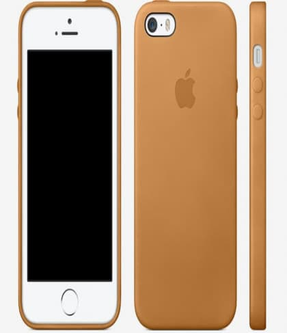 Leather Case for Apple iPhone 5s Case Brown