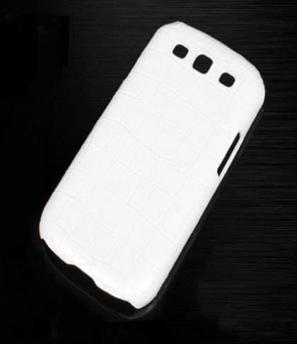 Vivi Design Handmade Premium White Crocodile Leather Case for Samsung Galaxy S3