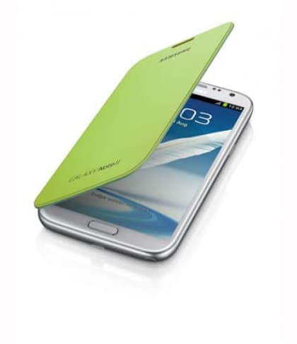 Samsung Galaxy Note II Flip Cover Lime Green