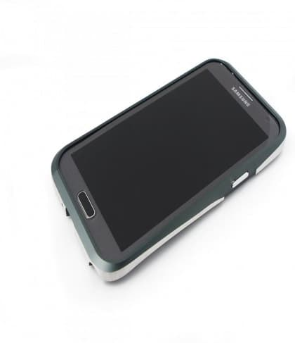 Samsung Galaxy Note 2 Draco Thunder Gray Aluminum Bumper Case