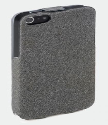 Grey ROCK Flip Leather Case