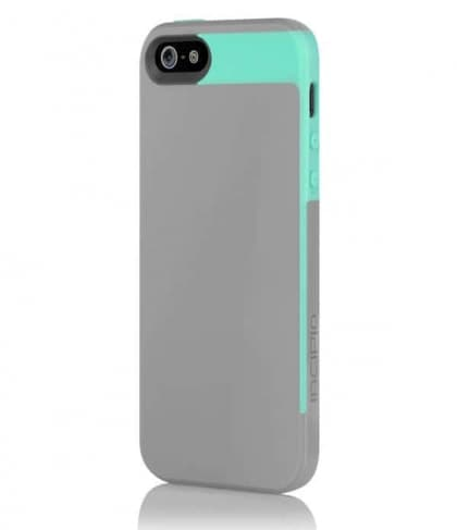 Incipio Faxion Gray Turquoise for iPhone 5 Slim Flexible Hard-Shell Case