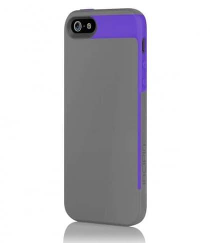 Incipio Faxion Gray Purple for iPhone 5 Slim Flexible Hard-Shell Case