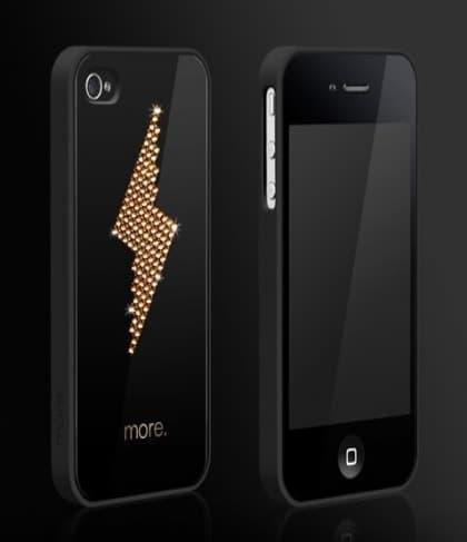 More Black Exclusive Plus Bolt Gold Case