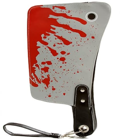 Bloody Butcher Knife Clutch Purse Bag