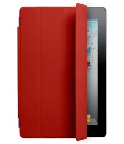Smart Cover for Apple iPad 2 and the new iPad- Red Leather