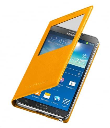 Original Samsung Galaxy Note 3 S-View Cover Mustard Yellow