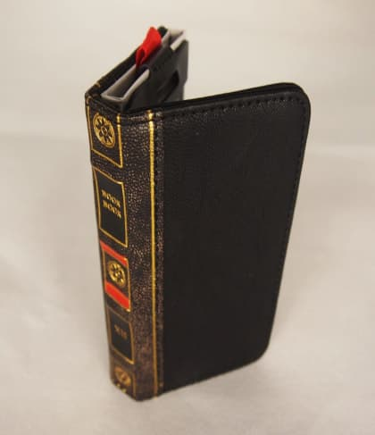 BookBook Leather Wallet ID Case Black iPhone 5 5s SE