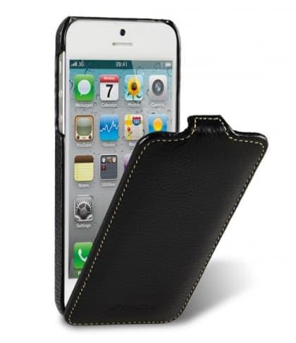 Melkco Premium Leather Case for Apple iPhone 5 - Jacka Type (Black)