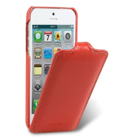 Melkco Premium Leather Case for Apple iPhone 5 - Jacka Type (Red)